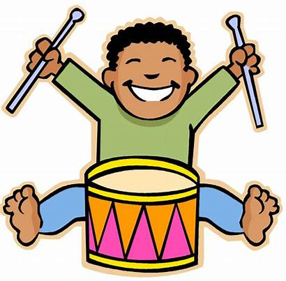 Clipart Playing Cartoon Instruments Musical Drums Clay