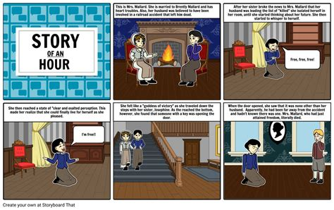 STORY OF AN HOUR Storyboard by 57d903b3