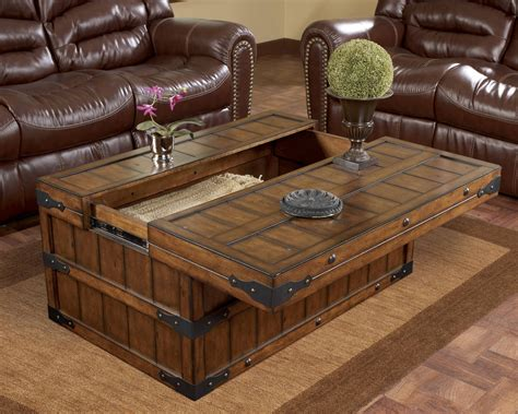 Square glass coffee table with storage, and titled: 12 The Best Large Coffee Table With Storage