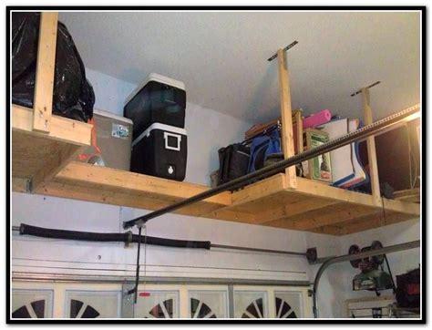 garage overhead storage diy wood overhead garage storage