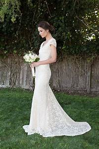 bohemian wedding dress stretch lace gown with train With stretch lace wedding dress