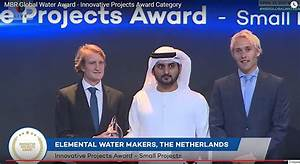 TNO and Elemental Water Makers receive prestigious MBR ...