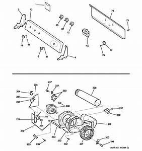 Backsplash  Blower  U0026 Motor Diagram  U0026 Parts List For Model Dhdsr46eg1ww Ge