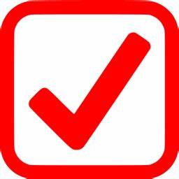 Red checked checkbox icon - Free red check mark icons