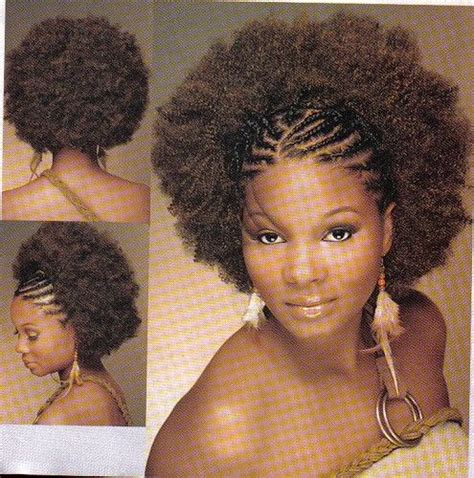 Black Hairstyles With Twists In The Front by Afro And Cornrows Braided Front W Afro 1 Jpg