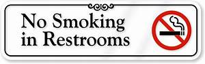 no smoking in bathroom signs custom no smoking labels With how to smoke in the bathroom