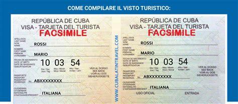 Visto Ingresso Cuba by Visto Turistico Per I Cittadini Italiani Vogliono