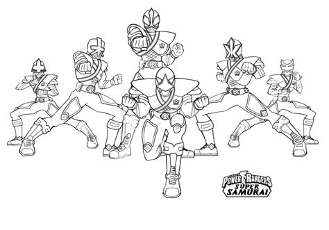 Atonio Power Rangers Free Colouring Pages