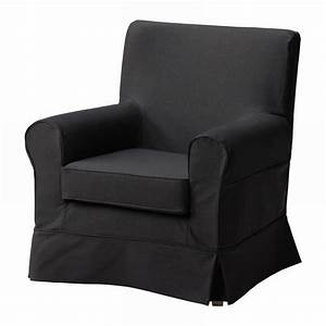 ikea ektorp jennylund armchair slipcover idemo black chair With black furniture slipcovers