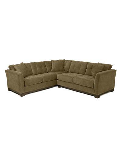 elliot microfiber sofa elliot fabric microfiber 2 sectional sofa furniture macy s