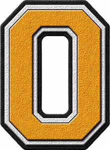 presentation alphabets gold varsity letter o With gold letter o