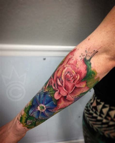 flower  sleeve tattoo  tattoo ideas gallery