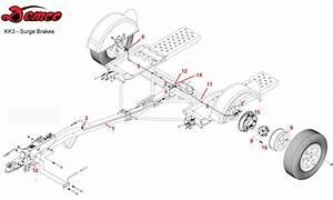 Demco Tow Dolly  Kar Kaddy 3  Surge Brake Parts