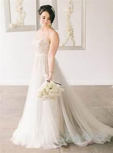 romance sheer tulle top flowy tulle wedding dress weddbook With sheer top wedding dress