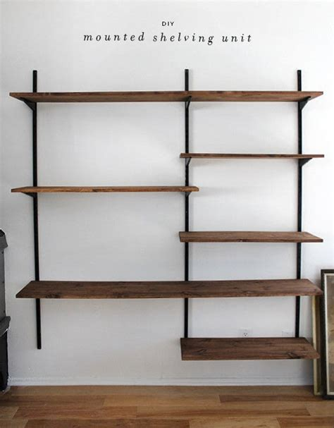 Mounted Shelving Unit diy mounted shelving unit 183 how to make a shelf 183 home