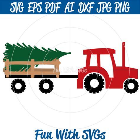Are you searching for christmas tree png images or vector? Christmas Tractor SVG Christmas Tree svg Christmas Tree | Etsy