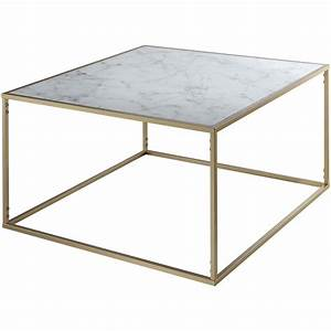 convenience concepts gold coast square faux marble top With coastal square coffee table