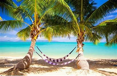 Paradise Sunshine Tropical Ocean Sea Palms Wallpaperup