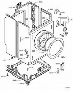Prima Lpr711  91488011000  Washing Machine Housing Spare Parts Diagram