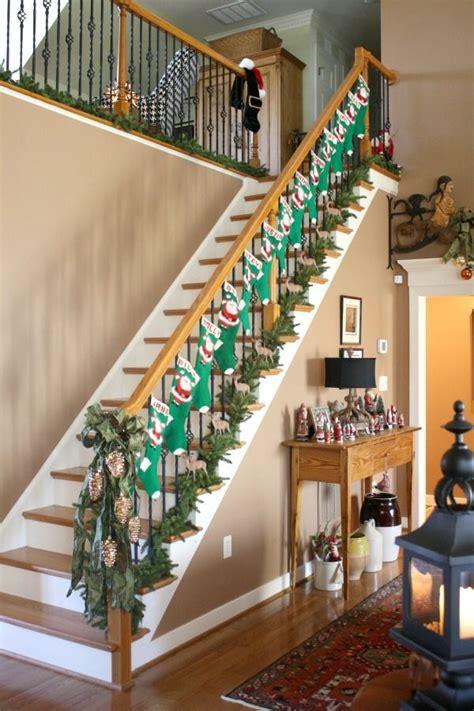 christmas stair decor images  pinterest