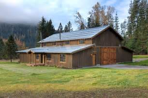 Photo Of Barn Roof Design Ideas by Pole Barn House Plans Exterior Rustic With Wood