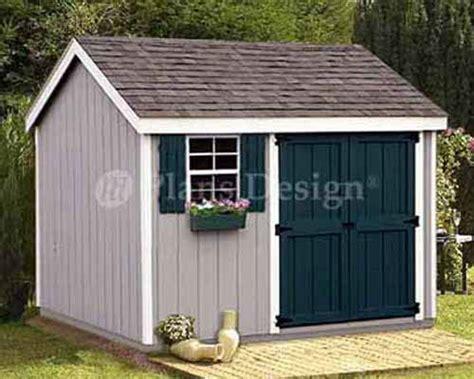 8 x 10 storage utility garden shed plans 10810 ebay