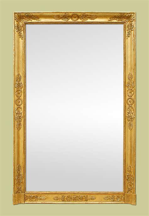 grand miroir chemin 233 e ancien 233 poque empire bois dor 233