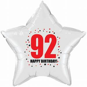 92 happy birthday party supplies - 92nd birthday star balloon