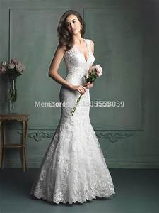 new style 2014 fashion lace white ivory v neck fishtail With v neck mermaid wedding dress