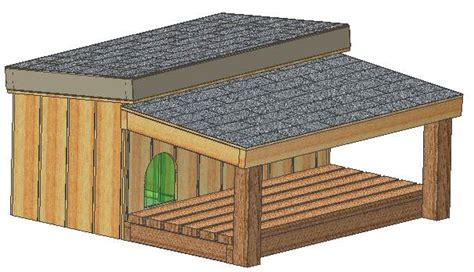 Custom Dog House Plans, 15 Plans Total, Large Dog, With