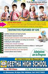 school pamphlet design free download