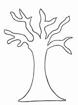 Tree Coloring Leaves Template Pages Bare Printable Without Branches Colouring Outline Branch Leafless Patterns Trees Clipart Fall Pattern Templates Drawing sketch template