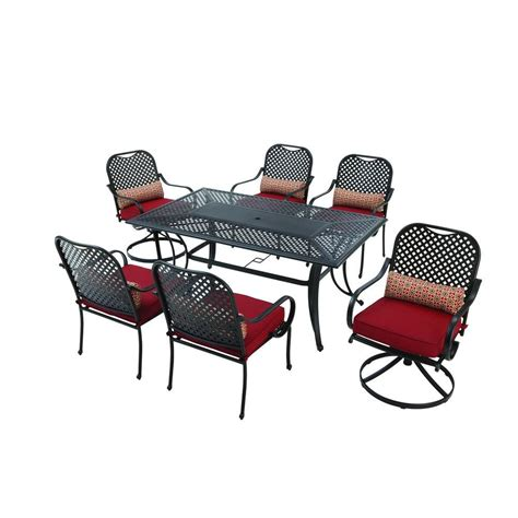 hton bay fall river 7 patio dining set with chili