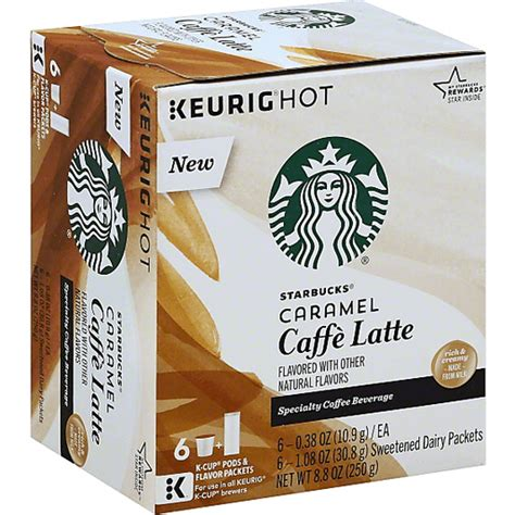 Need a kick to keep you going? Starbucks Keurig Hot Caramel Caffe Latte K-Cup Pods & Flavor Packets - 6 CT   Buehler's