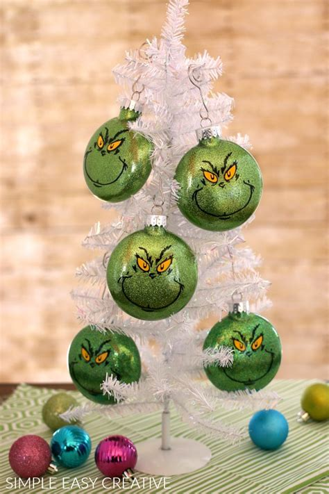 the grinch christmas tree ornaments grinch ornaments hoosier 6541