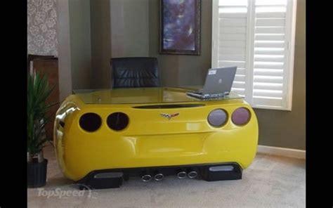 chevy corvette inspired desk trumps model cars  home