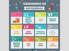Calendário de Aniversários – Gepicc