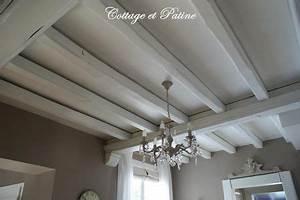 Poutres intérieures revisitées Cottage et Patine le Blog