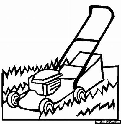 Coloring Pages Lawnmower Mower Lawn Sheets Template
