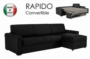 canape d39angle dreamer convertible ouverture rapido 160cm With canape convertible d angle couchage quotidien