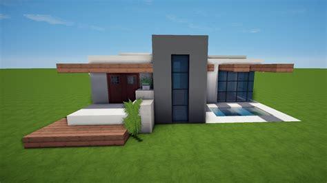 Modernes Minecraft Haus Mit Pool Bauen Tutorial [haus 58