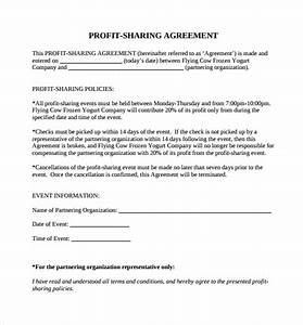 sample profit sharing agreement 11 examples format With commission sharing agreement template