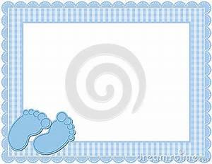Baby Boy Card Design Baby Boy Gingham Frame Stock Vector Image 47237601