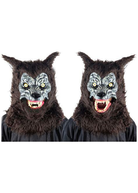 animated brown werewolf mask animal masks