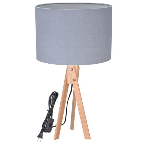 bedroom light stand modern tripod table desk floor lamp wood wooden stand home 10527 | 11dsl001 tri09 wod 02