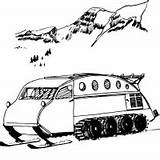 Snowmobile Coloring Snowmobiles sketch template