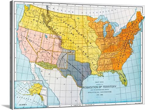 canvas map  united states