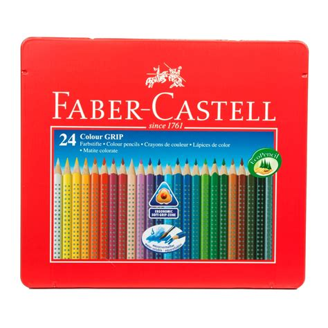 faber castell assorted colour grip colouring pencils water