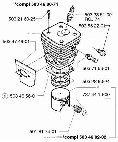 Piston Cylinder Husqvarna Diagram Parts 1998 Epa