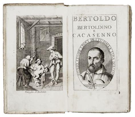 libreria giulio cesare croce giulio cesare bertoldo bertoldino e cacasenno
